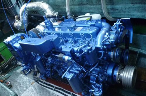 鶴丸のいすずエンジン