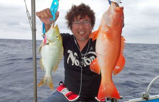 クレーンズ沖縄、鶴丸のタイラバとインチクで上がったタマンとアカジン