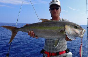 沖縄のジギング釣れたカンパチ