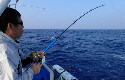 ツムブリ釣り中