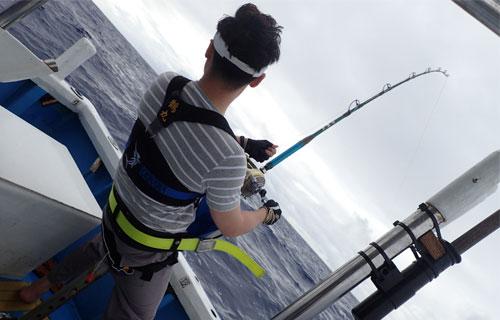 カジキ釣り中