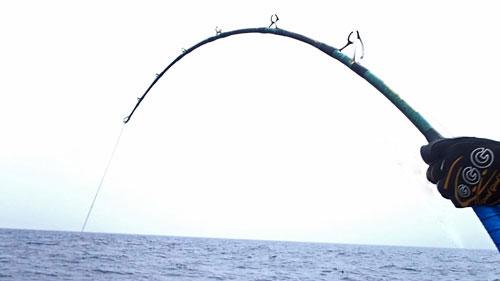 鶴丸船長自作カジキロッドStanding Marlin