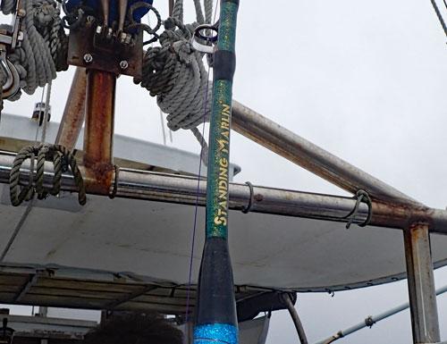 鶴丸船長自作カジキ専用ロッドStanding Marlin
