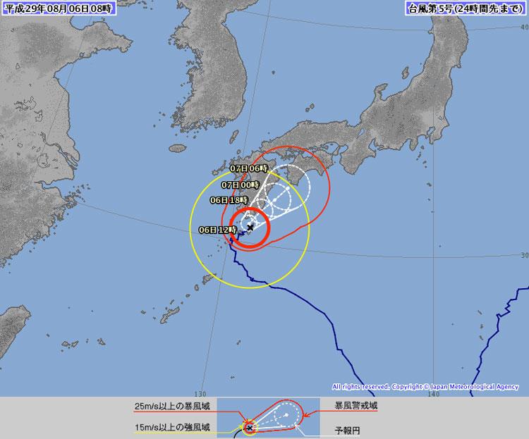 迷走台風5号ノルー