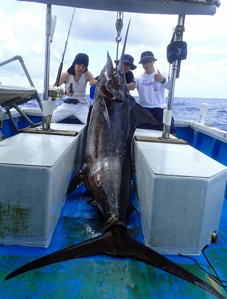 2017年9月8日に釣れた140kgカジキ