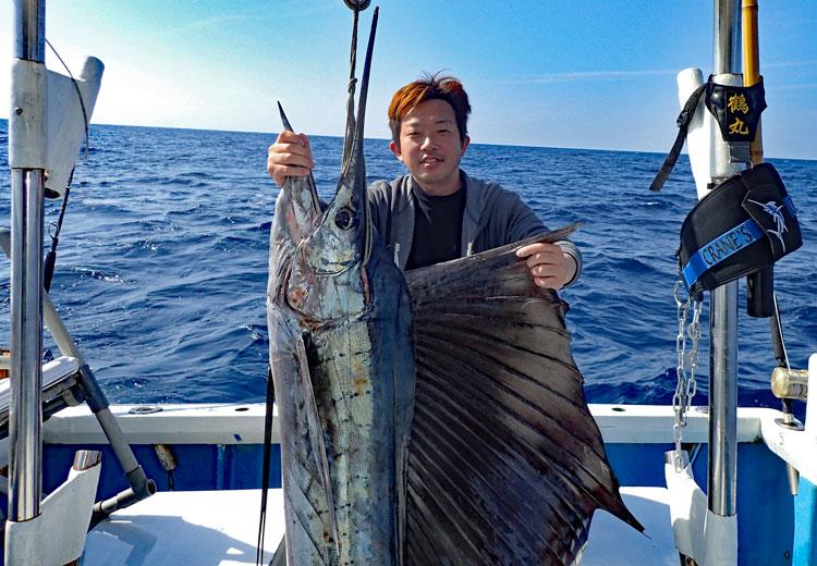 2018年1月3日の初トローリングで釣り上げたバショウカジキ