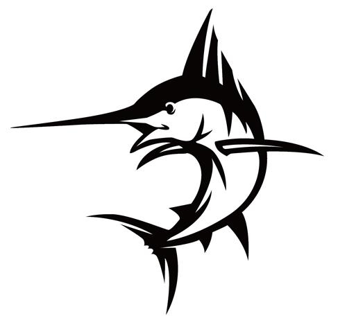 オリジナルのカジキのロゴ