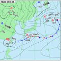 熱帯低気圧、天気図