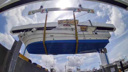鶴丸の船底、下から