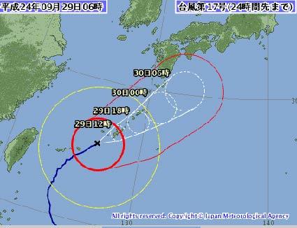 2012年台風17号