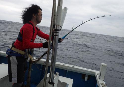 Sailfishを釣っているアングラー