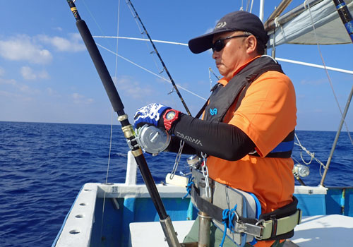 sailfishを釣っているangler
