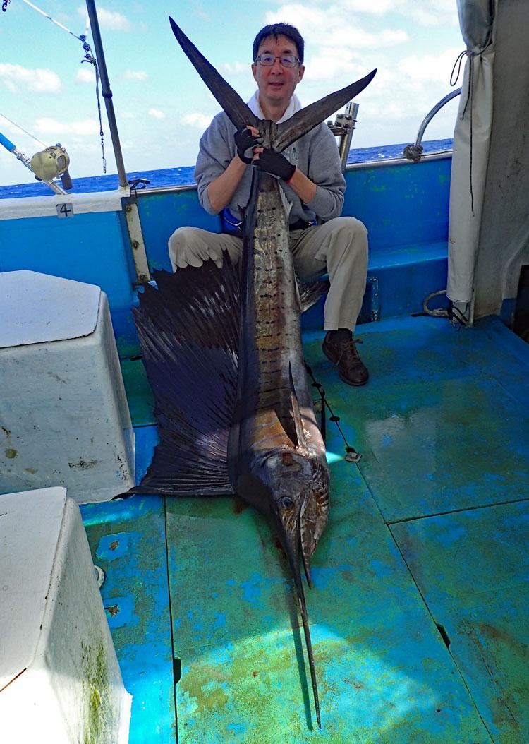 沖縄のカジキFISHINGで釣ったSailFish