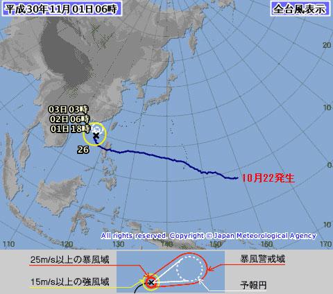 台風26号