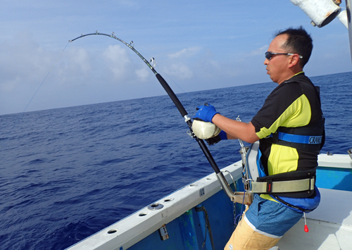 Marlin trolling in okinawa