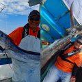 フウライカジキとブルーマーリンを釣り上げた京都から沖縄に釣りに来たアングラー