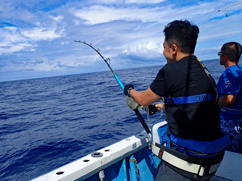 Monster marlin fishing in Okinawa by young people from Hong Kong