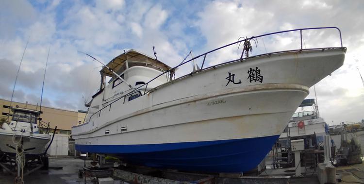 鶴丸の船底掃除、整備