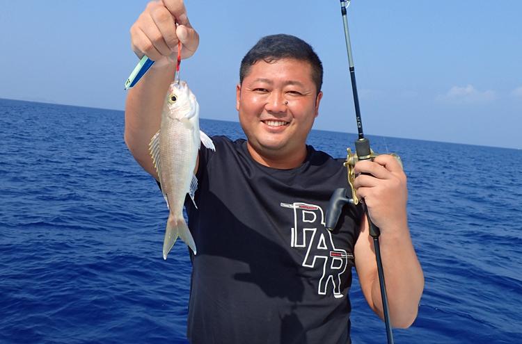 沖縄のジギングで釣れたマチ(フエダイの仲間)
