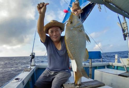 クレーンズ沖縄のタイラバで釣れたタマン