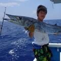 トローリングで釣れたカマスサワラ10kg