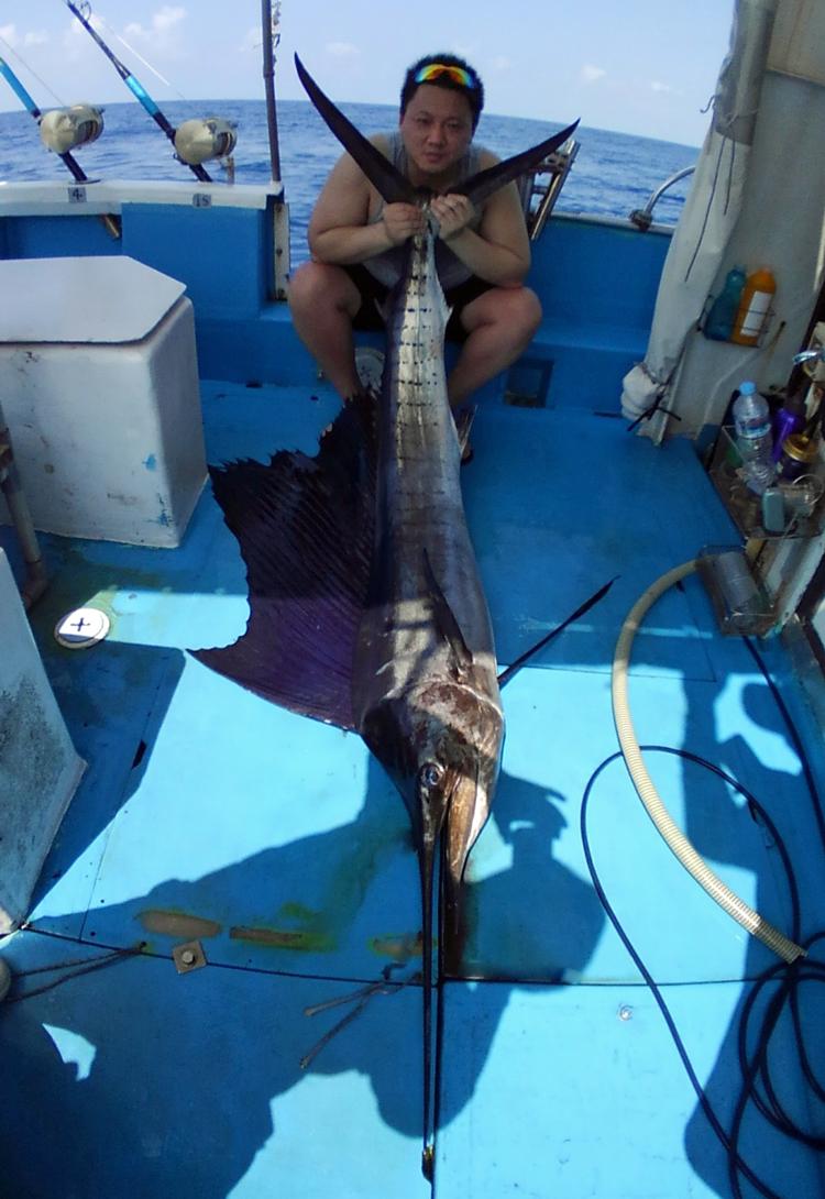 クレーンズ沖縄のトローリングでセイルフィッシュを釣った男