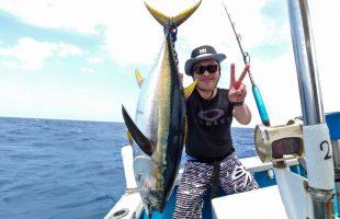 クレーンズ沖縄のトローリングで釣れたマグロ