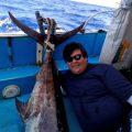 カジキを釣った東京から来た男性