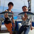 ツムブリを釣った二人