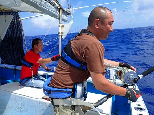 栃木県から沖縄にカジキを釣りに来た男性