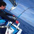 カジキを釣っている栃木県から来た中学生