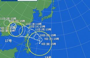 台風18号kompasu
