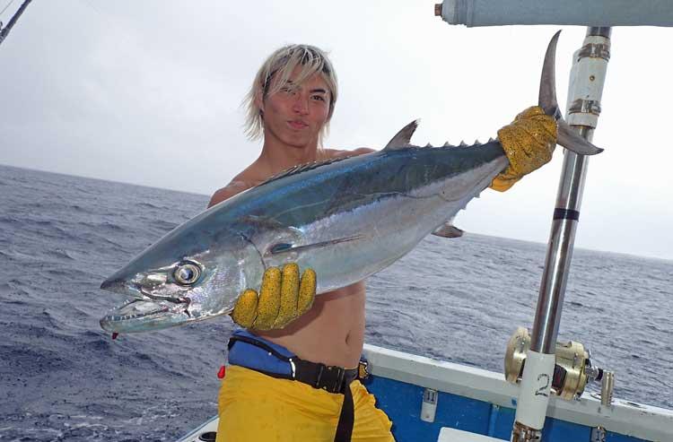 トローリングで釣れたイソマグロ
